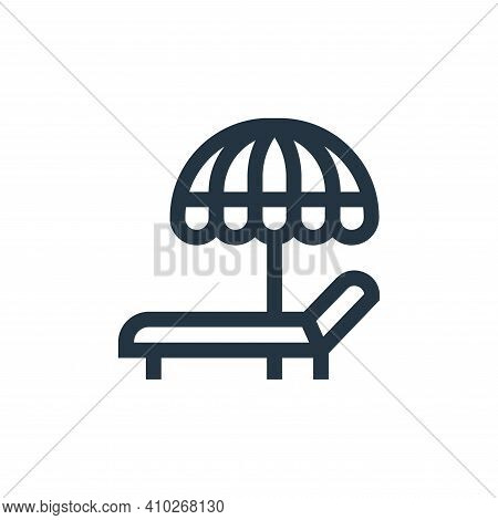 sun bath icon isolated on white background from hobbies collection. sun bath icon thin line outline
