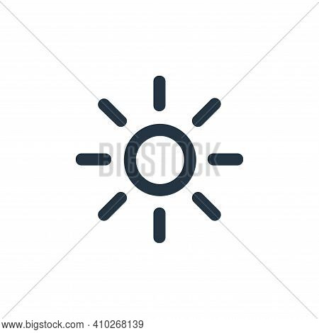 sun icon isolated on white background from user interface collection. sun icon thin line outline lin