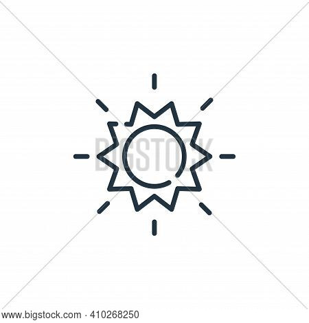 sun icon isolated on white background from desert collection. sun icon thin line outline linear sun