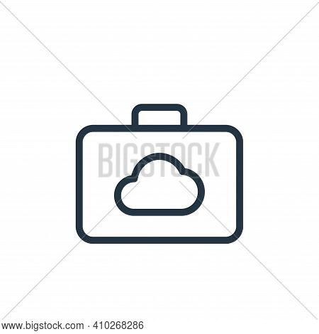 suitcase icon isolated on white background from work office server collection. suitcase icon thin li