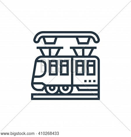 subway icon isolated on white background from railway collection. subway icon thin line outline line