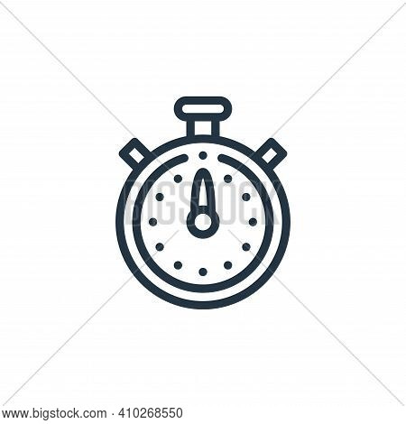 stopwatch icon isolated on white background from taxi service collection. stopwatch icon thin line o