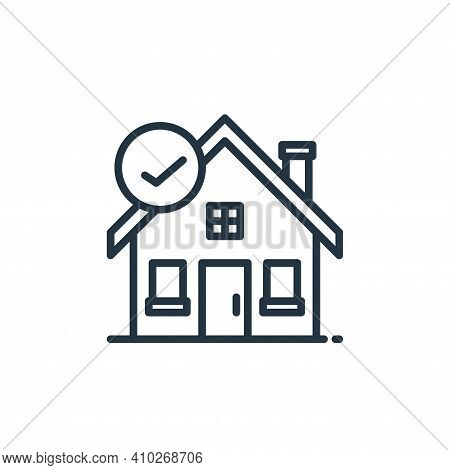 stay at home icon isolated on white background from stay at home collection. stay at home icon thin
