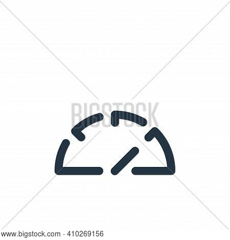speedometer icon isolated on white background from seo collection. speedometer icon thin line outlin