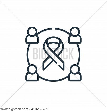Solidarity icon isolated on white background from kindness collection. Solidarity icon thin line out