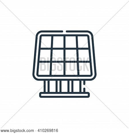 solar panel icon isolated on white background from smart farm collection. solar panel icon thin line