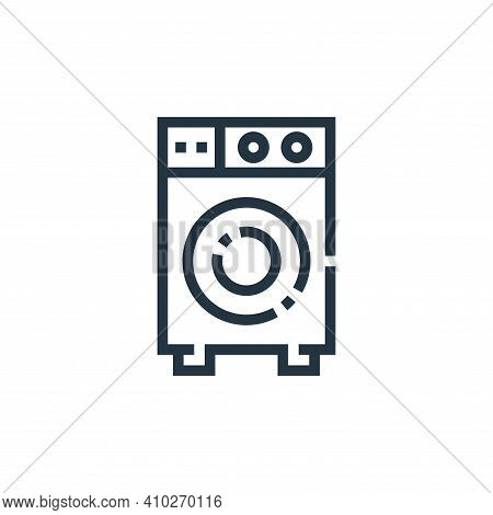 smart washing machine icon isolated on white background from inside home collection. smart washing m