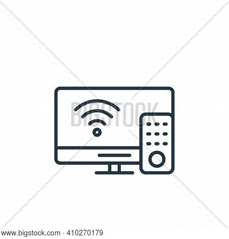 smart tv icon isolated on white background from internet of things collection. smart tv icon thin li