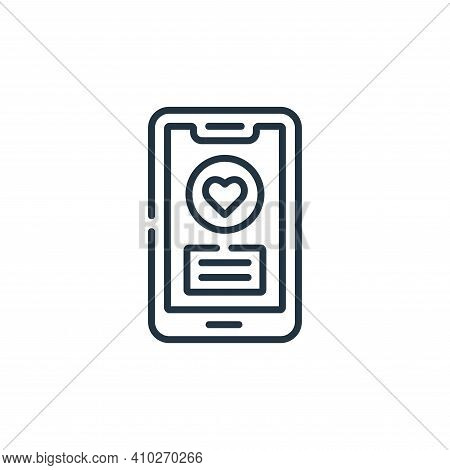 smartphone icon isolated on white background from kindness collection. smartphone icon thin line out