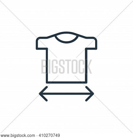 size guide icon isolated on white background from shopping line icons collection. size guide icon th