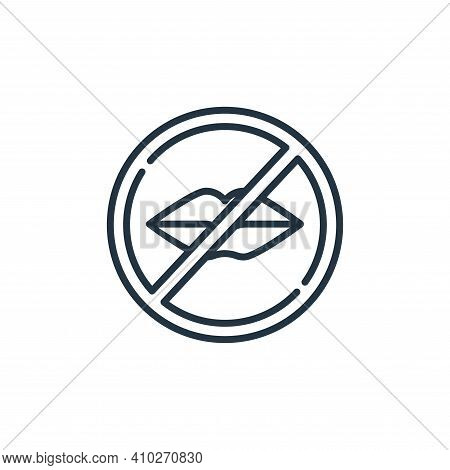 silence icon isolated on white background from signals and prohibitions collection. silence icon thi