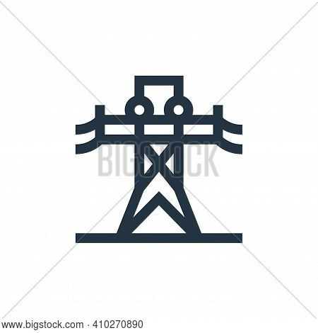 signal tower icon isolated on white background from news collection. signal tower icon thin line out