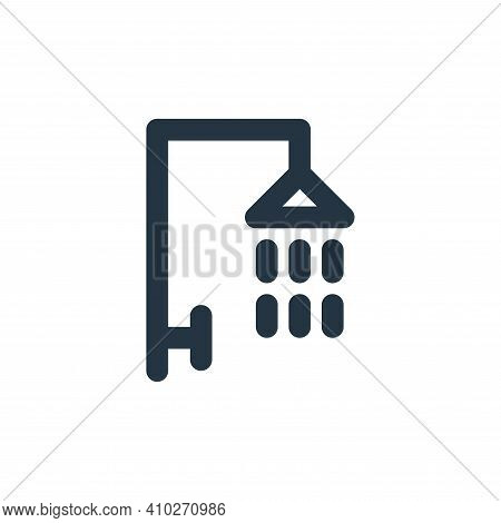 shower icon isolated on white background from bathroom collection. shower icon thin line outline lin