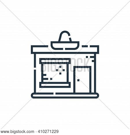 shop icon isolated on white background from cinco de mayo collection. shop icon thin line outline li
