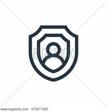 shield icon isolated on white background from insurance collection. shield icon thin line outline li