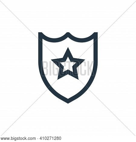 shield icon isolated on white background from video game elements collection. shield icon thin line
