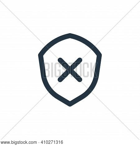 shield icon isolated on white background from basic ui collection. shield icon thin line outline lin