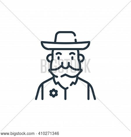 sheriff icon isolated on white background from fantastic characters collection. sheriff icon thin li