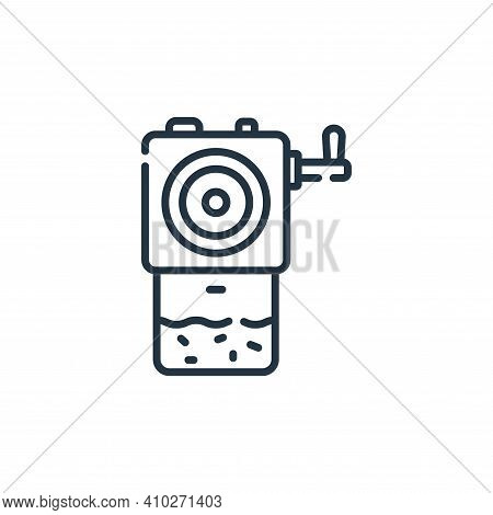 sharpener icon isolated on white background from academy collection. sharpener icon thin line outlin