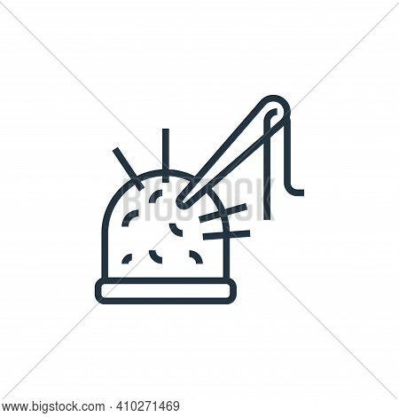 sewing thimble icon isolated on white background from sewing equipment collection. sewing thimble ic