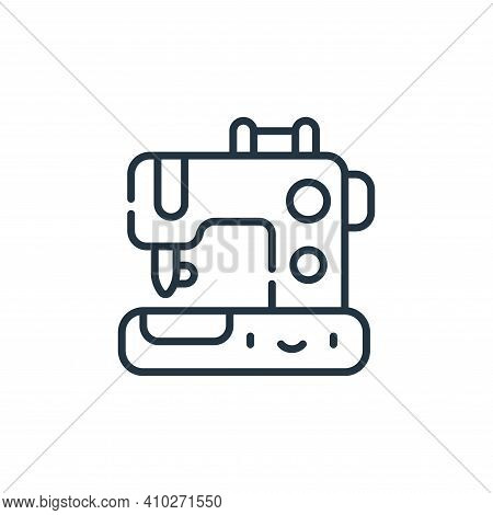 sewing machine icon isolated on white background from labour day collection. sewing machine icon thi