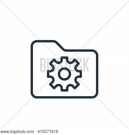 setting icon isolated on white background from folder collection. setting icon thin line outline lin