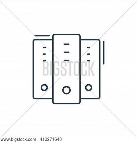 server icon isolated on white background from network and database collection. server icon thin line