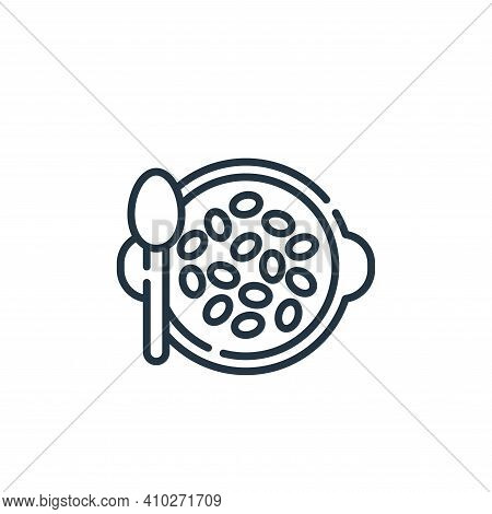 seeds icon isolated on white background from vegan food collection. seeds icon thin line outline lin