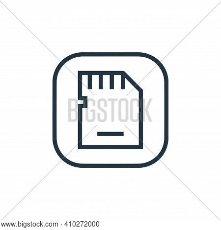 sd card icon isolated on white background from hardware and gadgets collection. sd card icon thin li