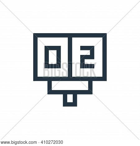 scoreboard icon isolated on white background from soccer collection. scoreboard icon thin line outli