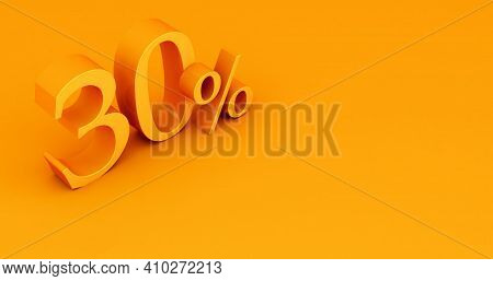 Special Offer 30% Discount Tag, Sale Up To 30 Percent Off, Yellow Thirty Percent On A Colored Backgr