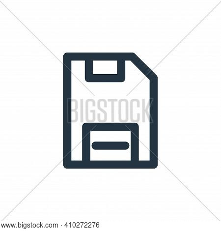 save icon isolated on white background from multimedia collection. save icon thin line outline linea