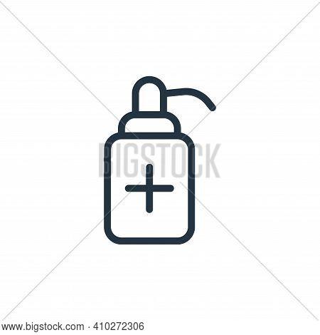sanitizer icon isolated on white background from coronavirus collection. sanitizer icon thin line ou
