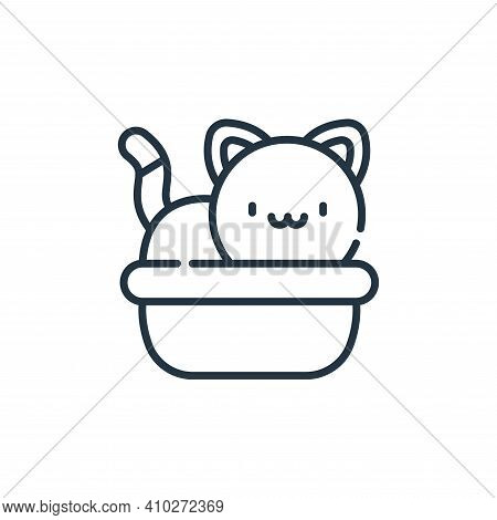sandbox icon isolated on white background from animal welfare collection. sandbox icon thin line out