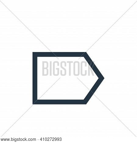 right icon isolated on white background from email collection. right icon thin line outline linear r