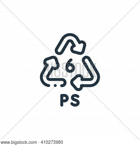 recycle icon isolated on white background from plastic products collection. recycle icon thin line o