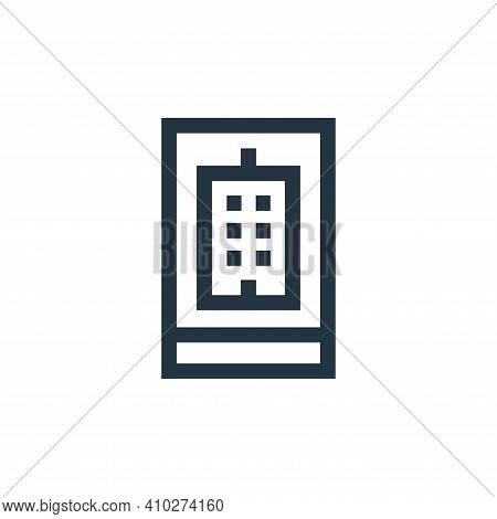 real estate icon isolated on white background from real estate collection. real estate icon thin lin