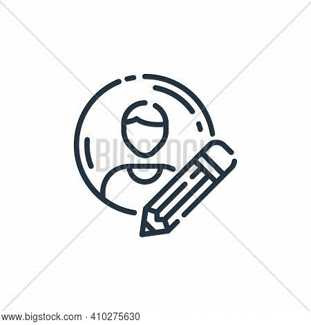profile icon isolated on white background from user interface collection. profile icon thin line out