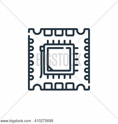 processor icon isolated on white background from database and servers collection. processor icon thi