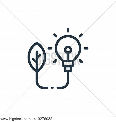power icon isolated on white background from ecology collection. power icon thin line outline linear