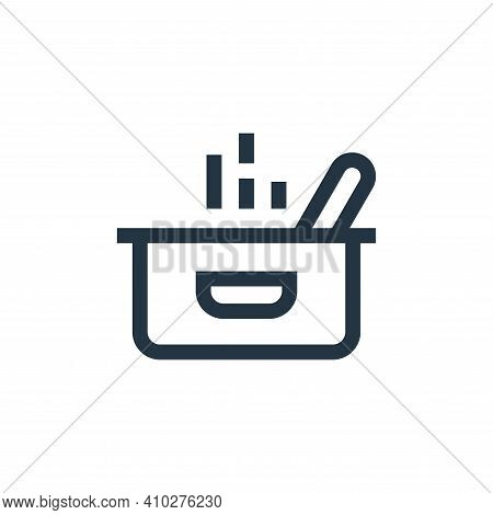pot icon isolated on white background from nutrition collection. pot icon thin line outline linear p