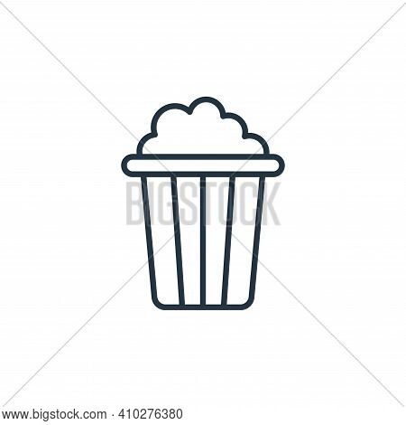 popcorn icon isolated on white background from cinema collection. popcorn icon thin line outline lin