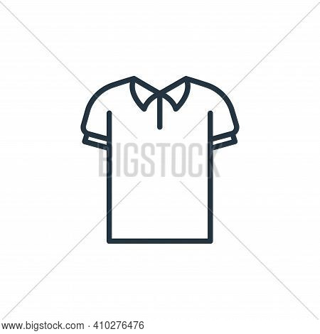 polo shirt icon isolated on white background from wardrobe collection. polo shirt icon thin line out