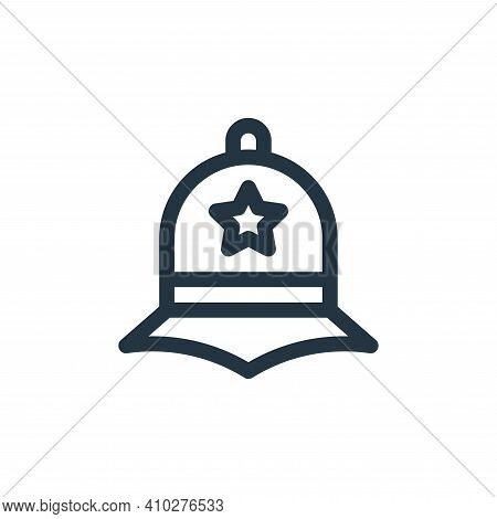 police hat icon isolated on white background from england collection. police hat icon thin line outl