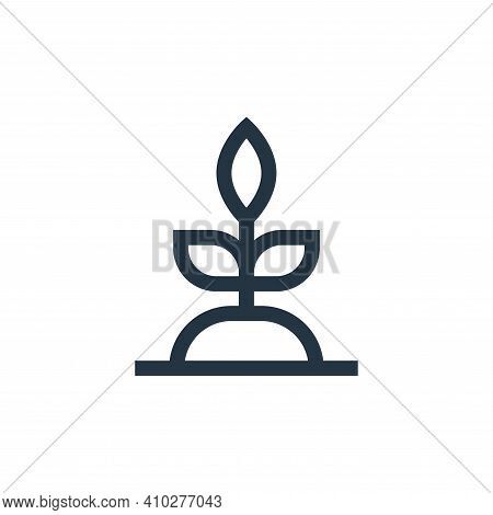 plant icon isolated on white background from hippies collection. plant icon thin line outline linear