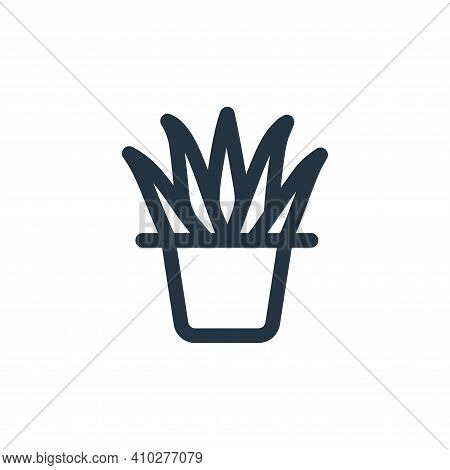 plant icon isolated on white background from landscaping equipment collection. plant icon thin line