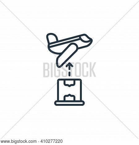 plane icon isolated on white background from shipping and delivery collection. plane icon thin line