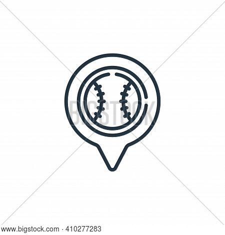 placeholder icon isolated on white background from baseball collection. placeholder icon thin line o