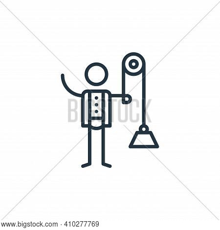 physics icon isolated on white background from general arts collection. physics icon thin line outli