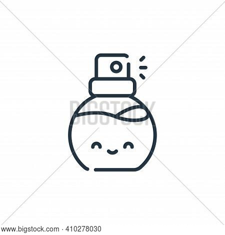 perfume icon isolated on white background from italy collection. perfume icon thin line outline line